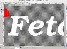 GIMP 文字反鋸齒顏色異變的Bug