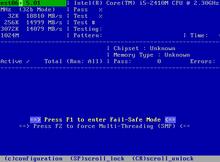 Memtest86+ 免費開源的記憶體測試工具