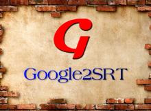快速下載Youtube影片的字幕軟體Google2SRT