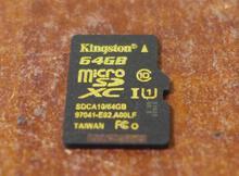金士頓(Kingston) microSD Class 10 UHS-1 64GB 高速記憶卡開箱